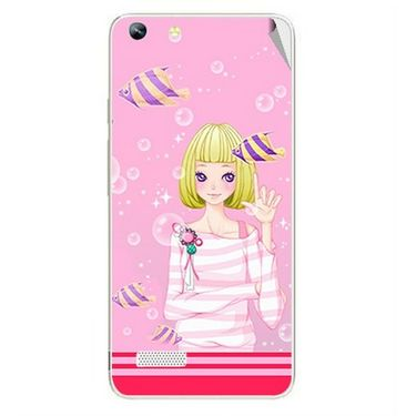 Snooky 42785 Digital Print Mobile Skin Sticker For Micromax Canvas Hue AQ5000 - Pink