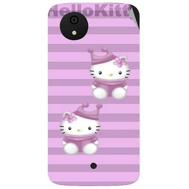 Snooky 42799 Digital Print Mobile Skin Sticker For Micromax A1 Android One - Pink