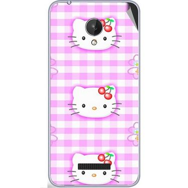 Snooky 42822 Digital Print Mobile Skin Sticker For Micromax Canvas Spark Q380 - Pink