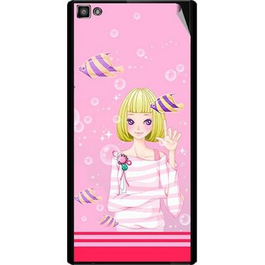 Snooky 42829 Digital Print Mobile Skin Sticker For XOLO 8X 1000 Hive - Pink