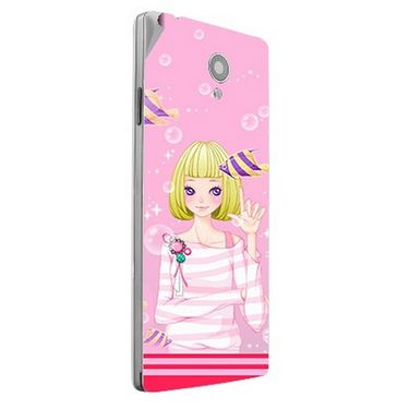 Snooky 42851 Digital Print Mobile Skin Sticker For XOLO A500 Club - Pink