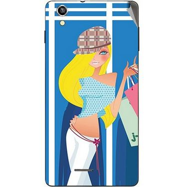 Snooky 42927 Digital Print Mobile Skin Sticker For XOLO A1010 - Blue