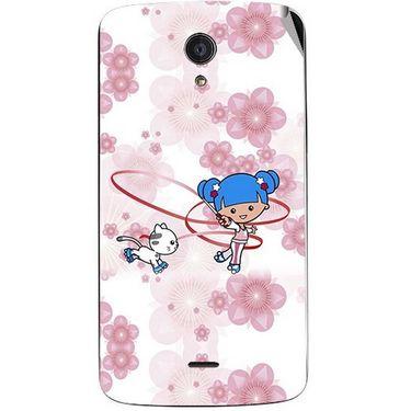 Snooky 42958 Digital Print Mobile Skin Sticker For Xolo Omega 5.5 - White
