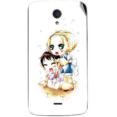 Snooky 42959 Digital Print Mobile Skin Sticker For Xolo Omega 5.5 - White