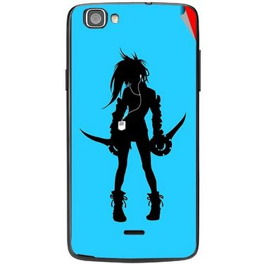 Snooky 42966 Digital Print Mobile Skin Sticker For Xolo One - Blue