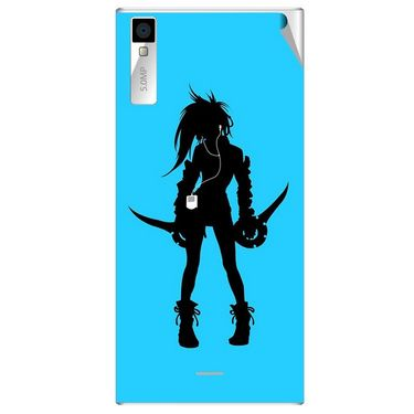 Snooky 42999 Digital Print Mobile Skin Sticker For Xolo Q600S - Blue