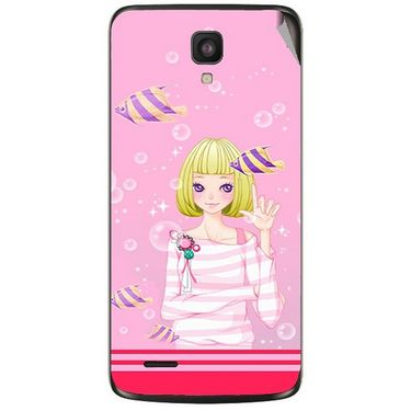 Snooky 43005 Digital Print Mobile Skin Sticker For Xolo Q700 - Pink