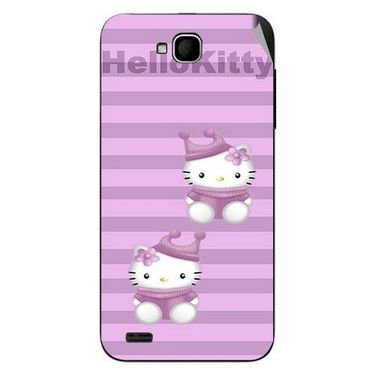Snooky 43030 Digital Print Mobile Skin Sticker For Xolo Q800 - Pink