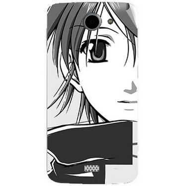 Snooky 43066 Digital Print Mobile Skin Sticker For Xolo Q1000 - Grey