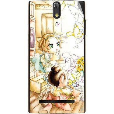 Snooky 43094 Digital Print Mobile Skin Sticker For Xolo Q1020 - White