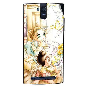 Snooky 43105 Digital Print Mobile Skin Sticker For Xolo Q2000 - White