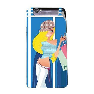 Snooky 43125 Digital Print Mobile Skin Sticker For Xolo Q3000 - Blue