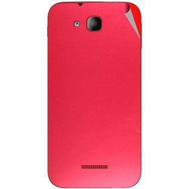 Snooky 43198 Mobile Skin Sticker For Intex Aqua CURVE Mini - Red