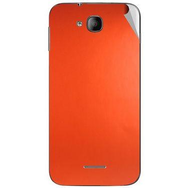 Snooky 43250 Mobile Skin Sticker For Intex Aqua i4 - Orange