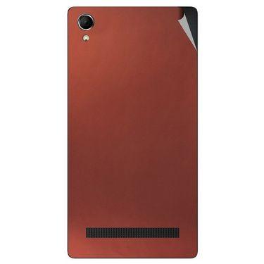 Snooky 43391 Mobile Skin Sticker For Intex Aqua Power Plus - Copper