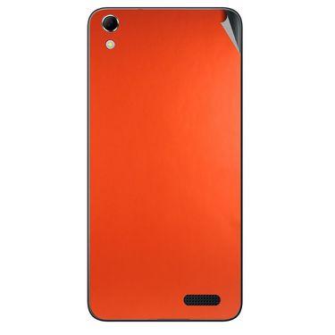 Snooky 43418 Mobile Skin Sticker For Intex Aqua Q3 - Orange