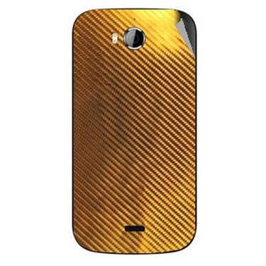 Snooky 43533 Mobile Skin Sticker For Intex Aqua Wonder - Golden