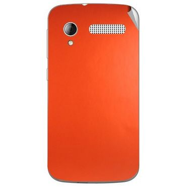 Snooky 43598 Mobile Skin Sticker For Intex Cloud Y12 - Orange