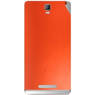Snooky 43718 Mobile Skin Sticker For Lava Iris Fuel 50 - Orange