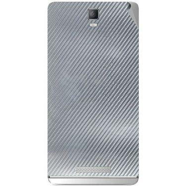 Snooky 43722 Mobile Skin Sticker For Lava Iris Fuel 50 - silver