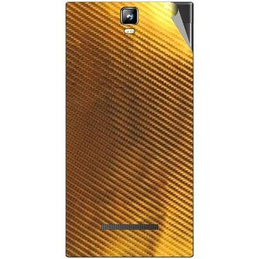 Snooky 43785 Mobile Skin Sticker For Lava Iris 504Q Plus - Golden
