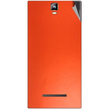 Snooky 43790 Mobile Skin Sticker For Lava Iris 504Q Plus - Orange