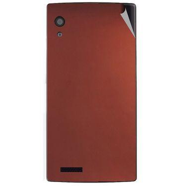 Snooky 43799 Mobile Skin Sticker For Lava Iris Fuel 60 - Copper