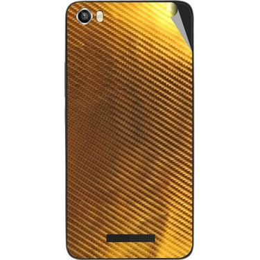 Snooky 43821 Mobile Skin Sticker For Lava Iris X8 - Golden
