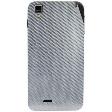 Snooky 43866 Mobile Skin Sticker For Lava Iris 405 Plus - silver