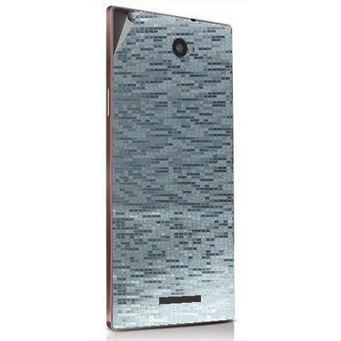 Snooky 43925 Mobile Skin Sticker For Lava Magnum X604 - silver