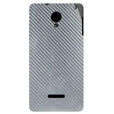 Snooky 43950 Mobile Skin Sticker For Micromax Canvas Fun A74 - silver
