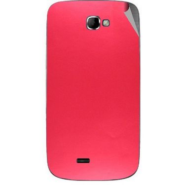 Snooky 44002 Mobile Skin Sticker For Micromax Canvas Engage A091 - Red