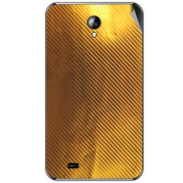 Snooky 44085 Mobile Skin Sticker For Micromax Superfone A101 - Golden