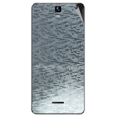 Snooky 44249 Mobile Skin Sticker For Micromax Canvas HD plus A190 - silver