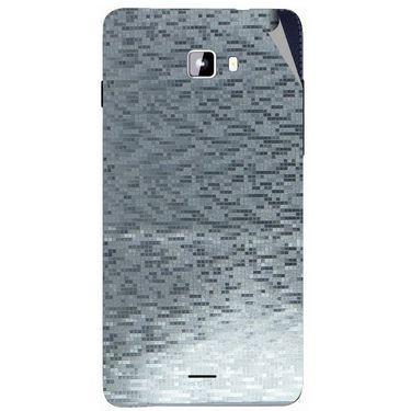 Snooky 44321 Mobile Skin Sticker For Micromax Canvas Nitro A311 - silver