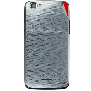 Snooky 44441 Mobile Skin Sticker For Xolo A500s Lite - silver
