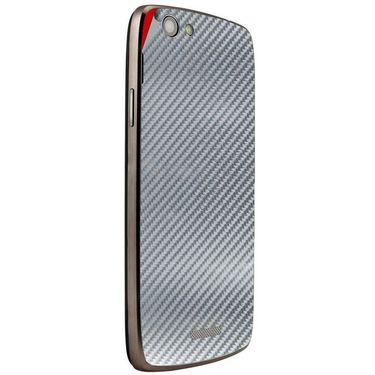 Snooky 44454 Mobile Skin Sticker For Xolo A510S - silver