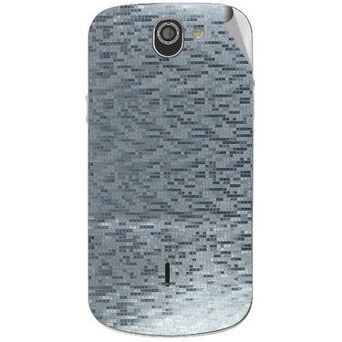 Snooky 44549 Mobile Skin Sticker For Xolo Q600 - silver