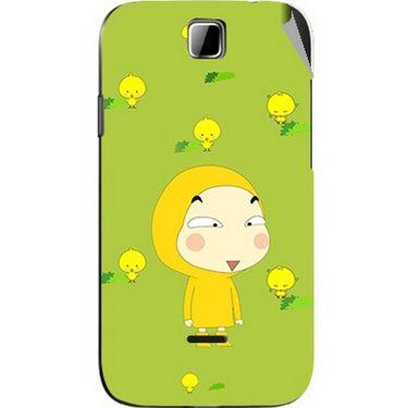 Snooky 45877 Digital Print Mobile Skin Sticker For Micromax Ninja 3.5 A54 - Green