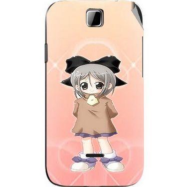 Snooky 45896 Digital Print Mobile Skin Sticker For Micromax Ninja 3.5 A54 - Orange