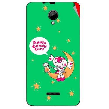 Snooky 45944 Digital Print Mobile Skin Sticker For Micromax Canvas Fun A76 - Green