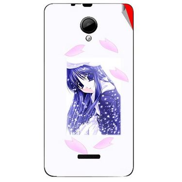 Snooky 45967 Digital Print Mobile Skin Sticker For Micromax Canvas Fun A76 - White