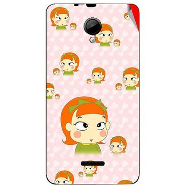 Snooky 45971 Digital Print Mobile Skin Sticker For Micromax Canvas Fun A76 - Orange
