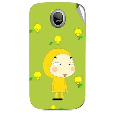 Snooky 46005 Digital Print Mobile Skin Sticker For Micromax Ninja A89 - Green