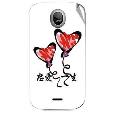 Snooky 46022 Digital Print Mobile Skin Sticker For Micromax Ninja A89 - White