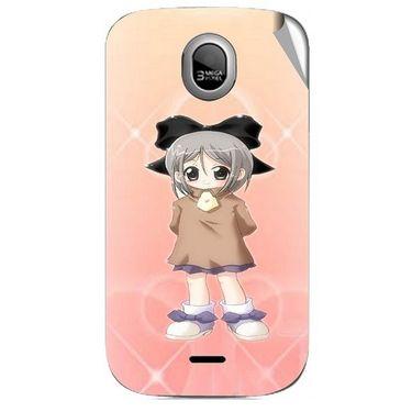 Snooky 46024 Digital Print Mobile Skin Sticker For Micromax Ninja A89 - Orange
