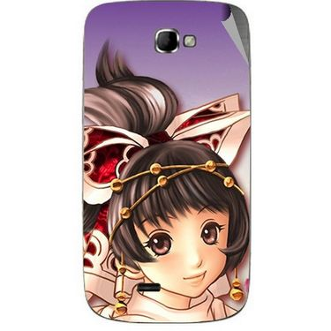Snooky 46070 Digital Print Mobile Skin Sticker For Micromax Canvas Engage A091 - Multicolour