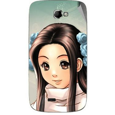 Snooky 46071 Digital Print Mobile Skin Sticker For Micromax Canvas Engage A091 - Multicolour