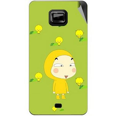 Snooky 46101 Digital Print Mobile Skin Sticker For Micromax Ninja A91 - Green