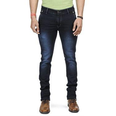 Blended Cotton Slim Fit Jeans_1061 - Dark Blue